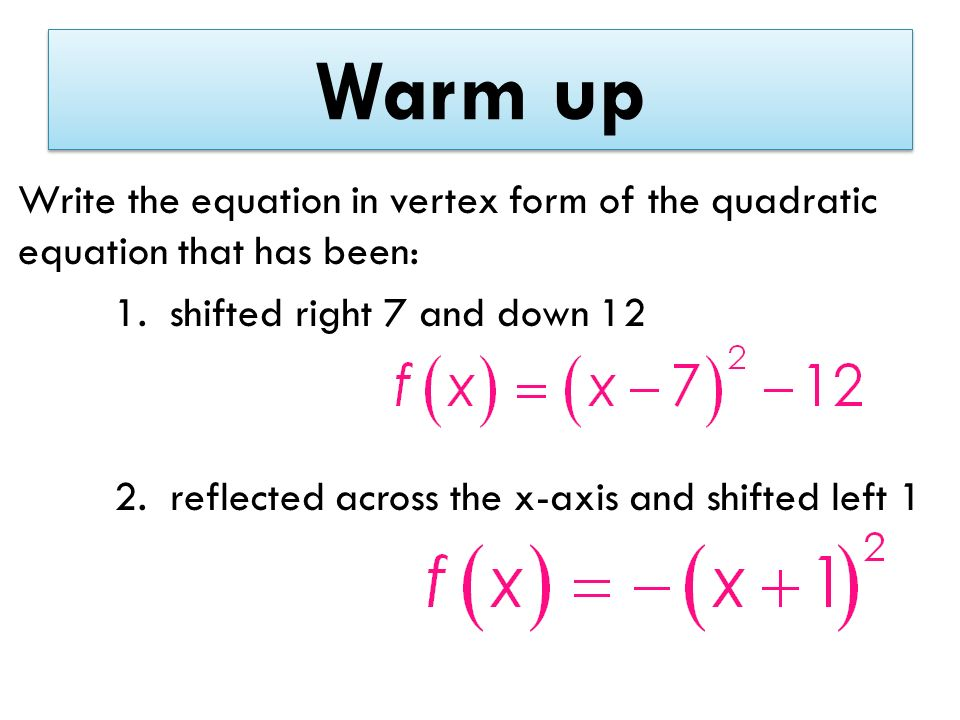 Write A Quadratic In Vertex Form Device Tester Resume