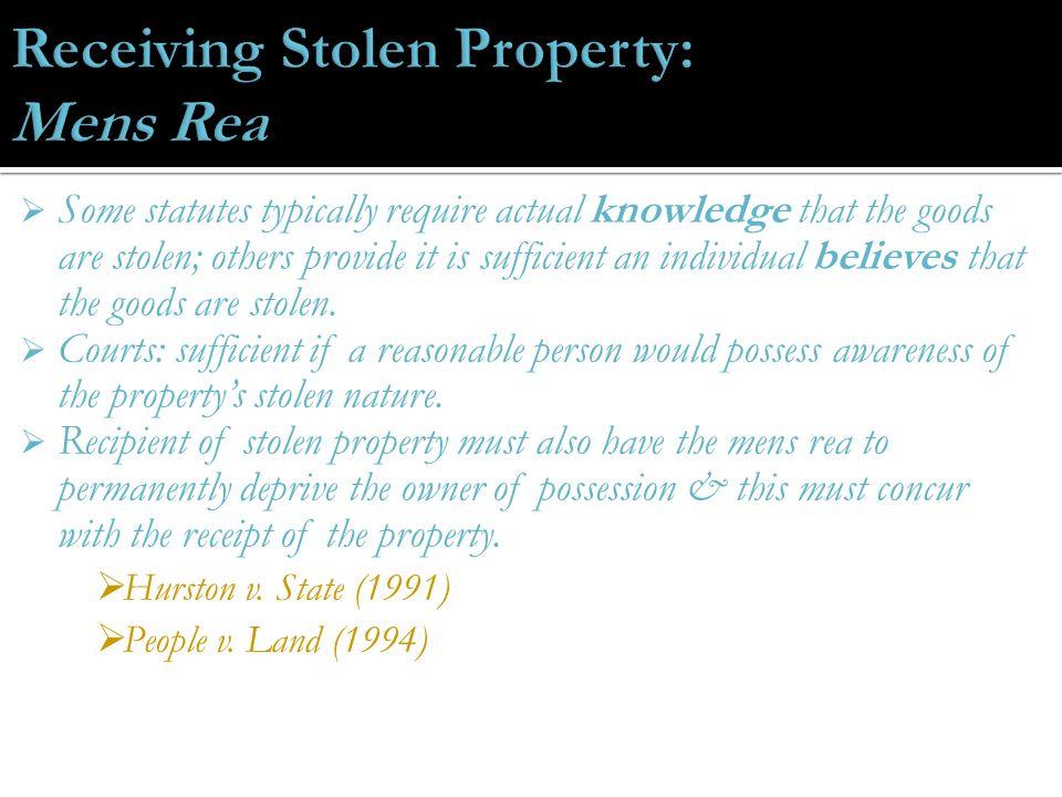 Larceny  Embezzlement  False pretenses  Receiving stolen ...