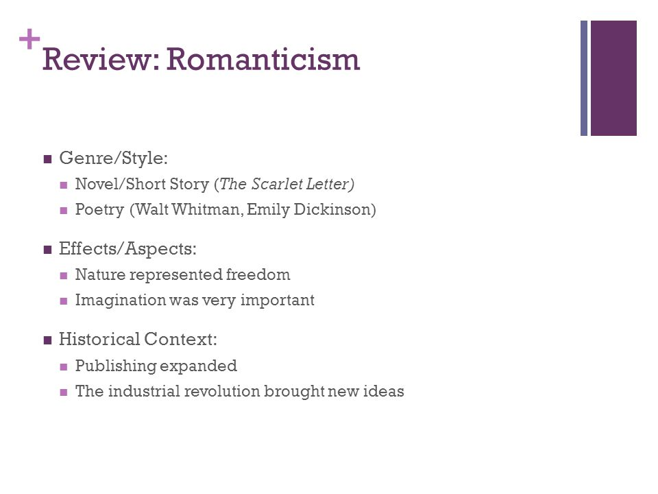 puritanism and romanticism in the scarlet