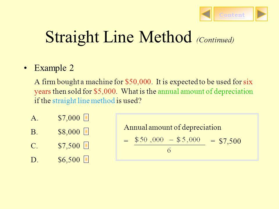 straight line method depreciation
