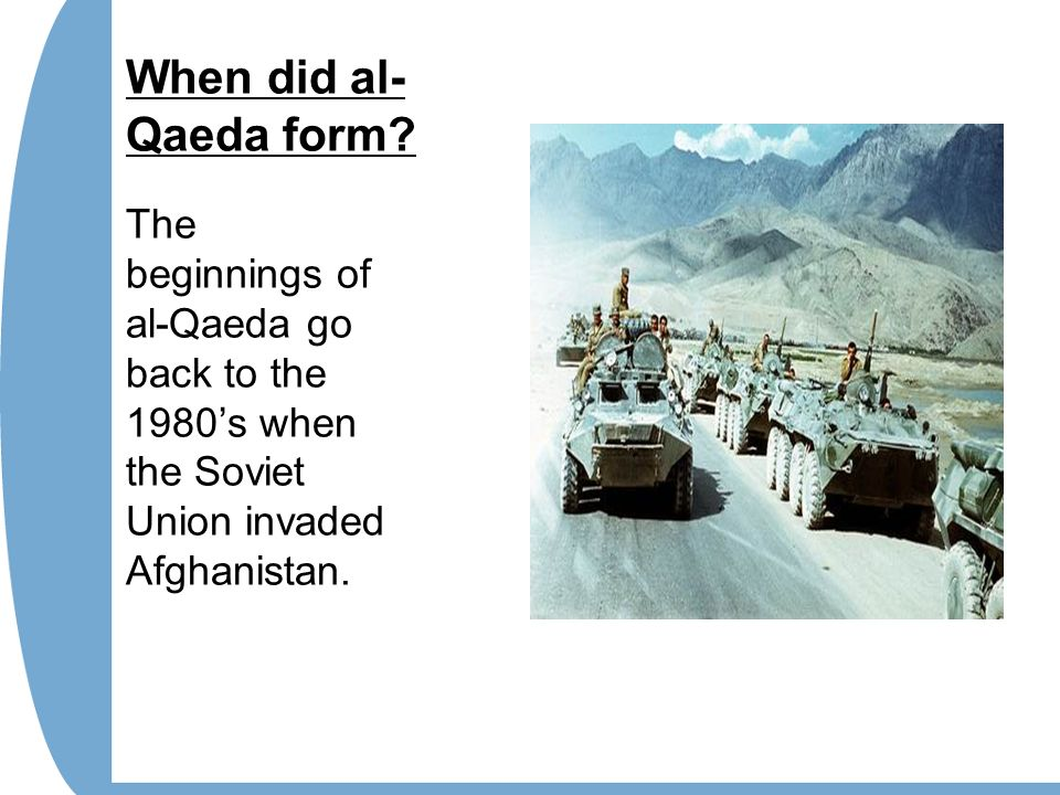 History of al-Qaeda and Terrorism against the USA. - ppt download