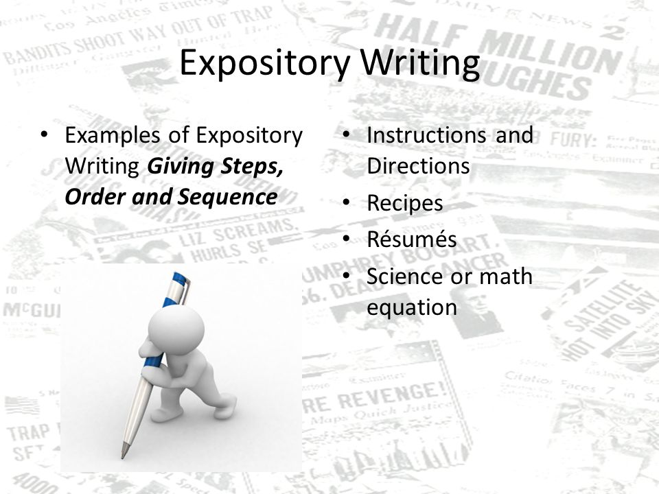 what is an expository essay expository writing purposes gives  5 expository writing examples of expository writing giving steps order and sequence instructions and directions recipes resumes science or math equation