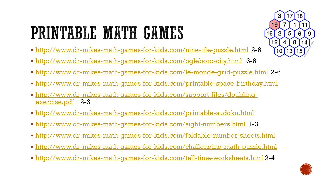  http://www.dr-mikes-math-games-for-kids.com/nine-tile-puzzle.html 2-6 http://www.dr-mikes-math-games-for-kids.com/nine-tile-puzzle.html  http://www