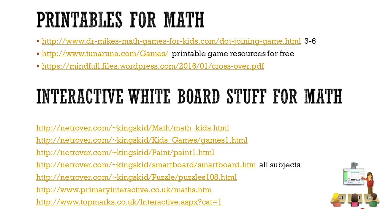  http://www.dr-mikes-math-games-for-kids.com/dot-joining-game.html 3-6 http://www.dr-mikes-math-games-for-kids.com/dot-joining-game.html  http://www