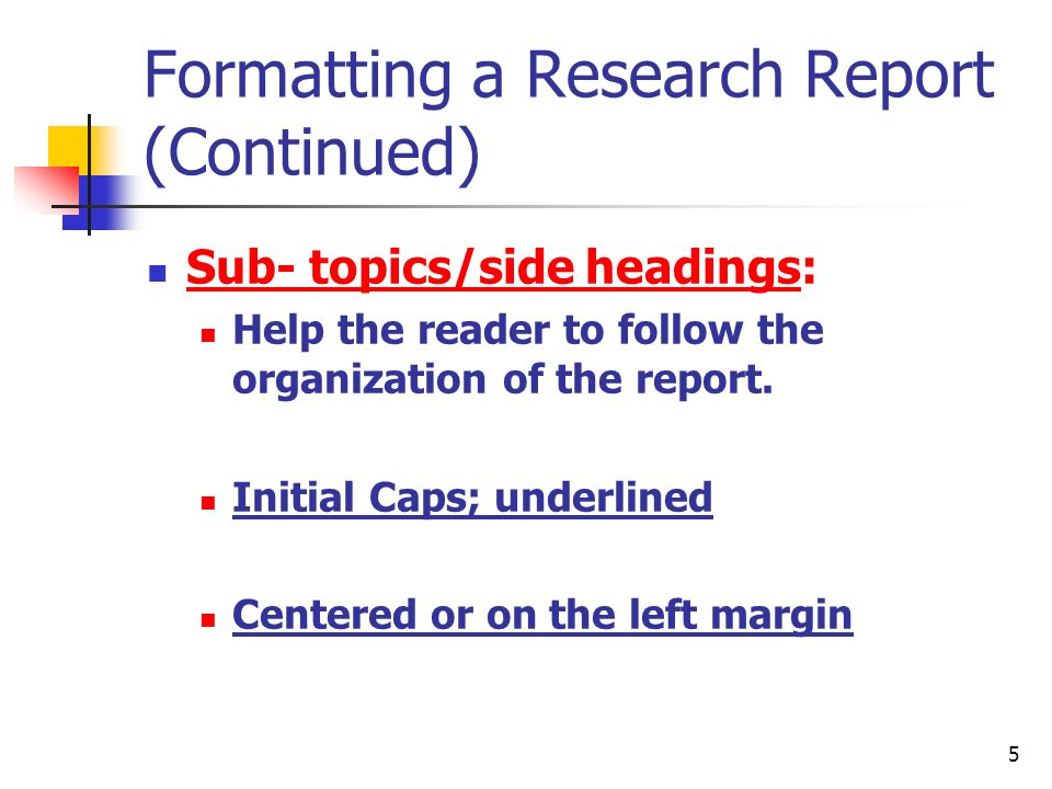 research report topics