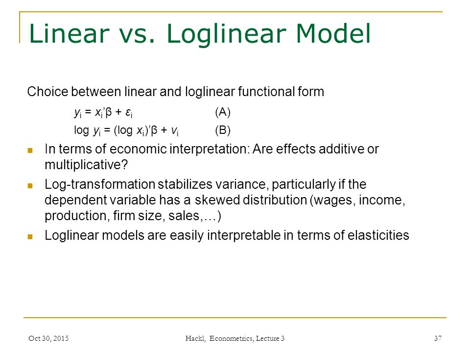 Linear vs.