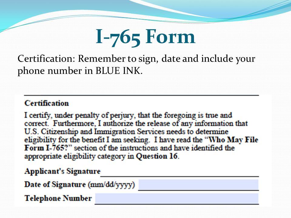 I 765 Form Question 16 Timiznceptzmusic