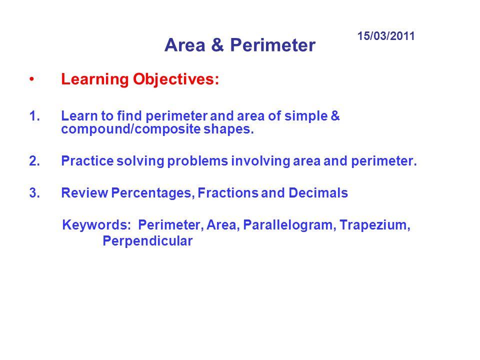 Problem Solving Perimeter