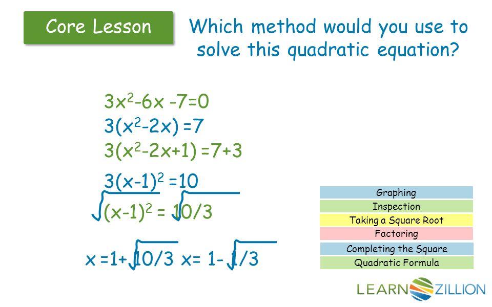 earliest methods used to solve quadratic