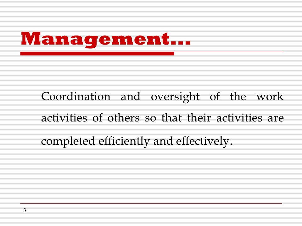 8 Management...