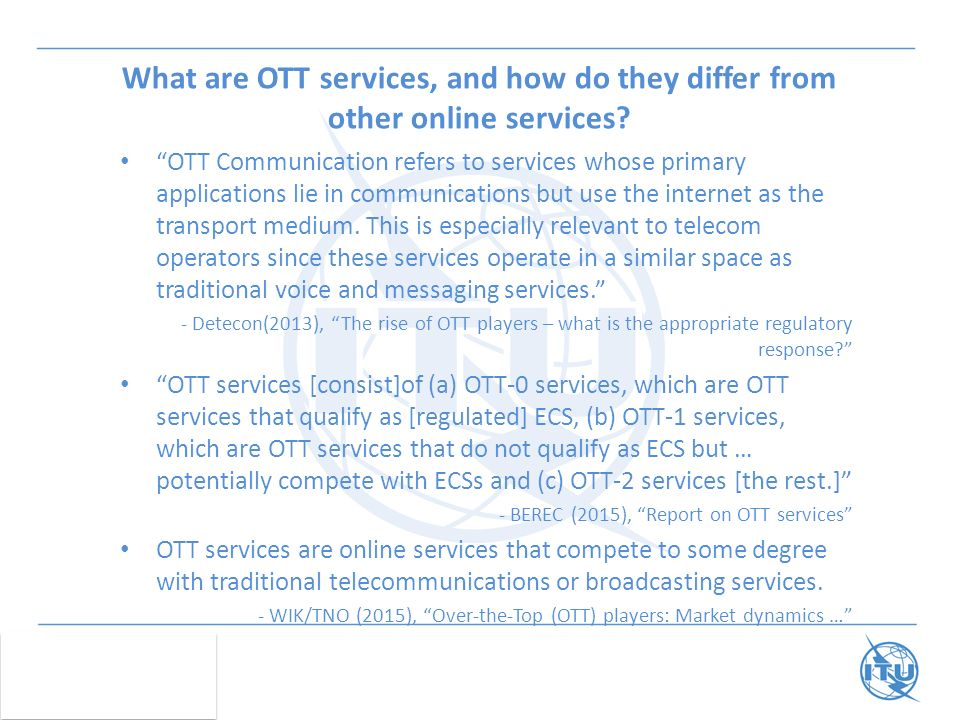 What are OTT services, and how do they differ from other online services.