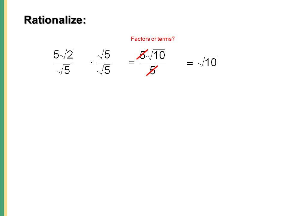 Rationalizing Numerators and Denominators of Radical Expressions – Rationalizing the Denominator Worksheet