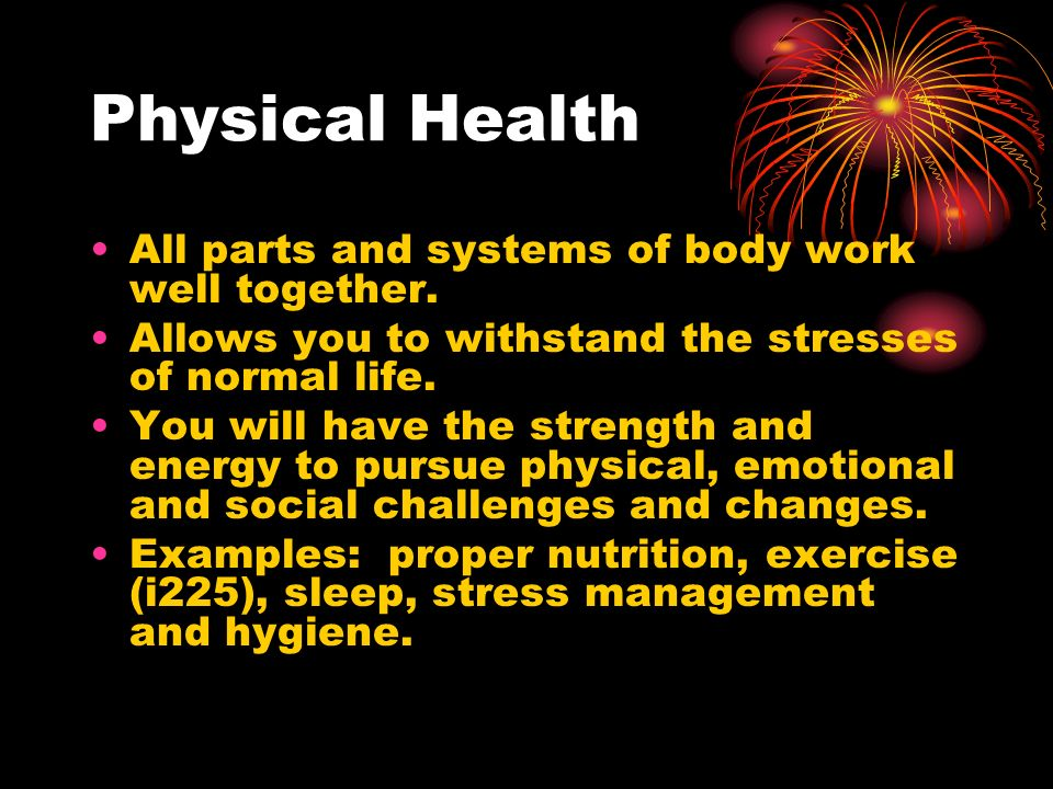 Physical Health Examples 92434 Loadtve