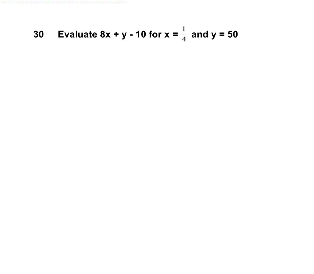 Evaluating algebraic expressions worksheet 6th grade