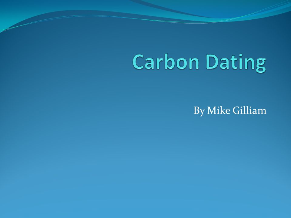 Radiocarbon dating sentence