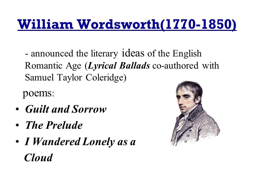 william wordsworth the prelude