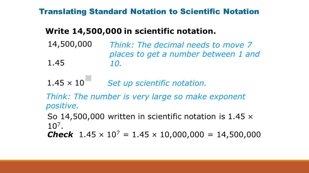 Scientific notation an ordinary quarter contains about translating standard notation to scientific notation think the number is very large so make exponent falaconquin