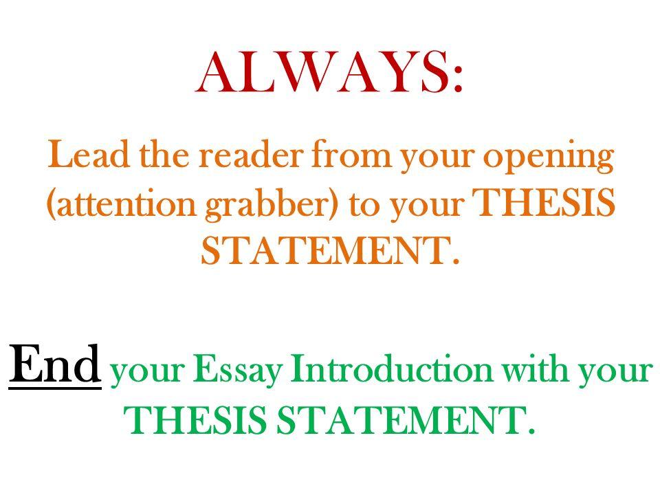 grabber essay
