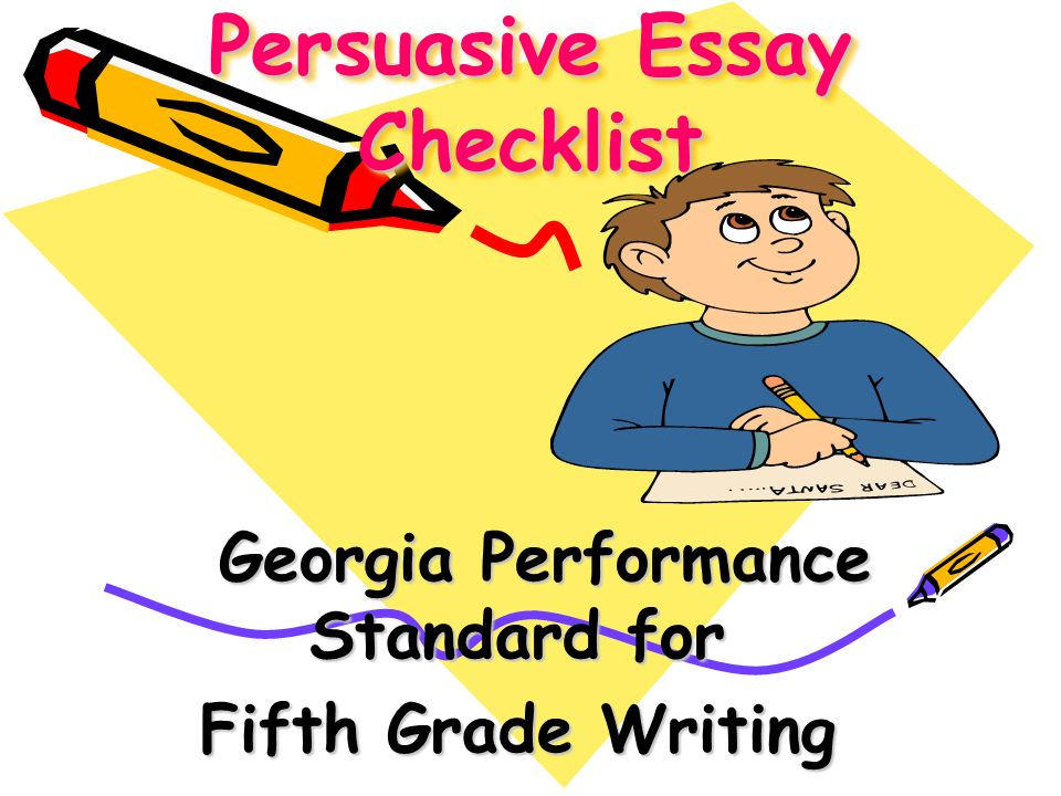 checklist for writing a five paragraph essay