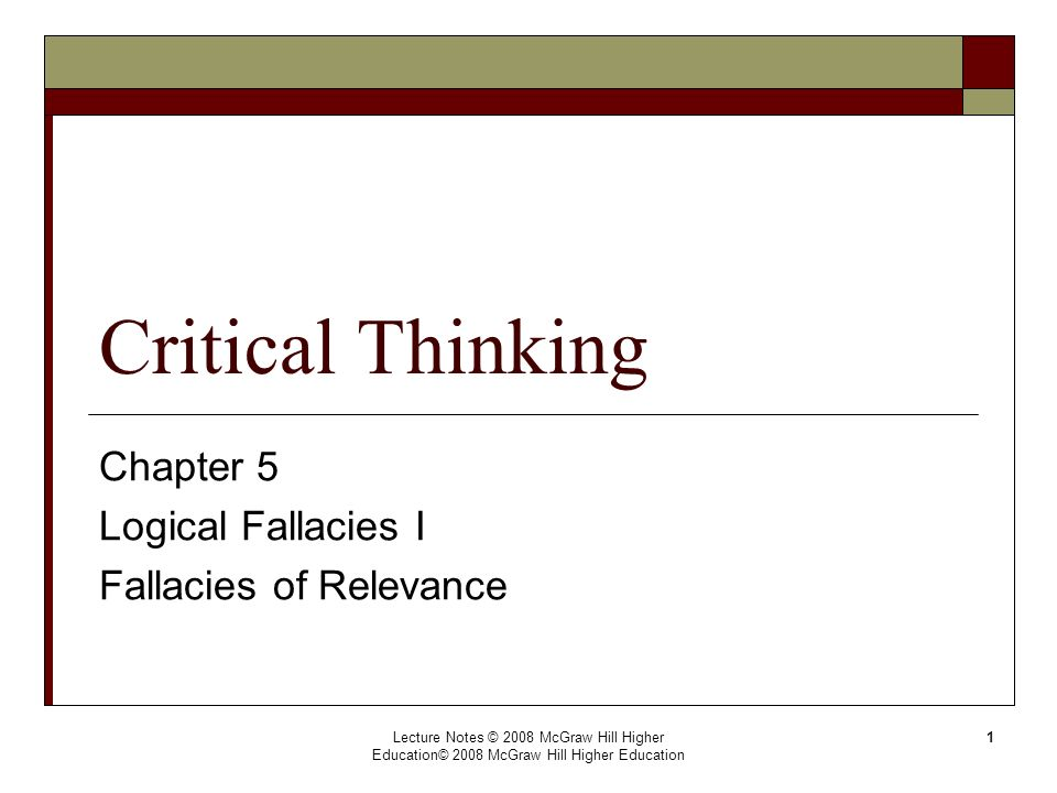 how can logical fallacies get in the way of critical thinking Educational introduction to mental exercises and logical thinking by using of the best logical paradoxes or fallacies you can argue it this way since $ 1.