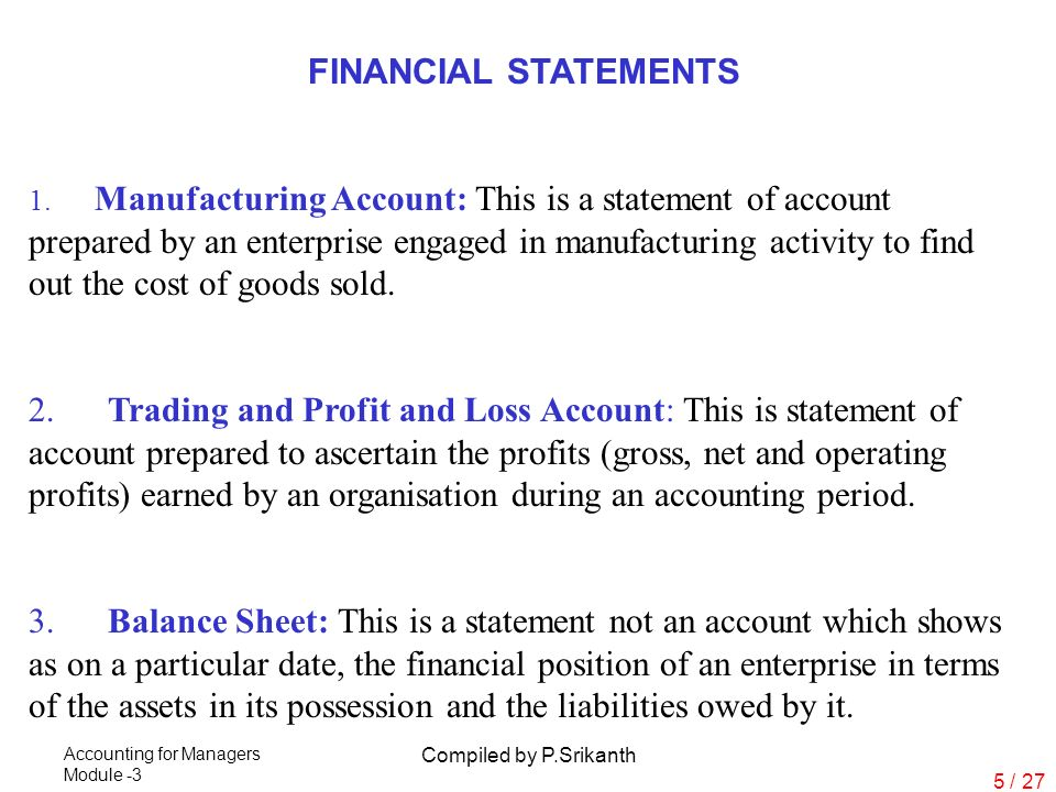 preparation of final accounts manufacturing accounts