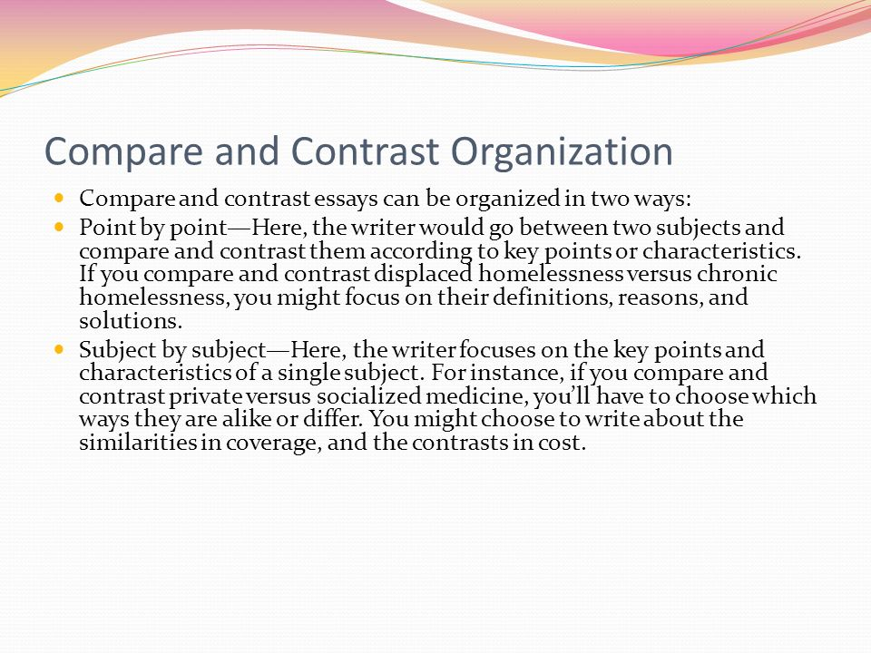 compare and contrast essay between two teachers This handout will help you determine if an assignment is asking for comparing and contrasting comparison/contrast essay comparison/contrast essay here are two.