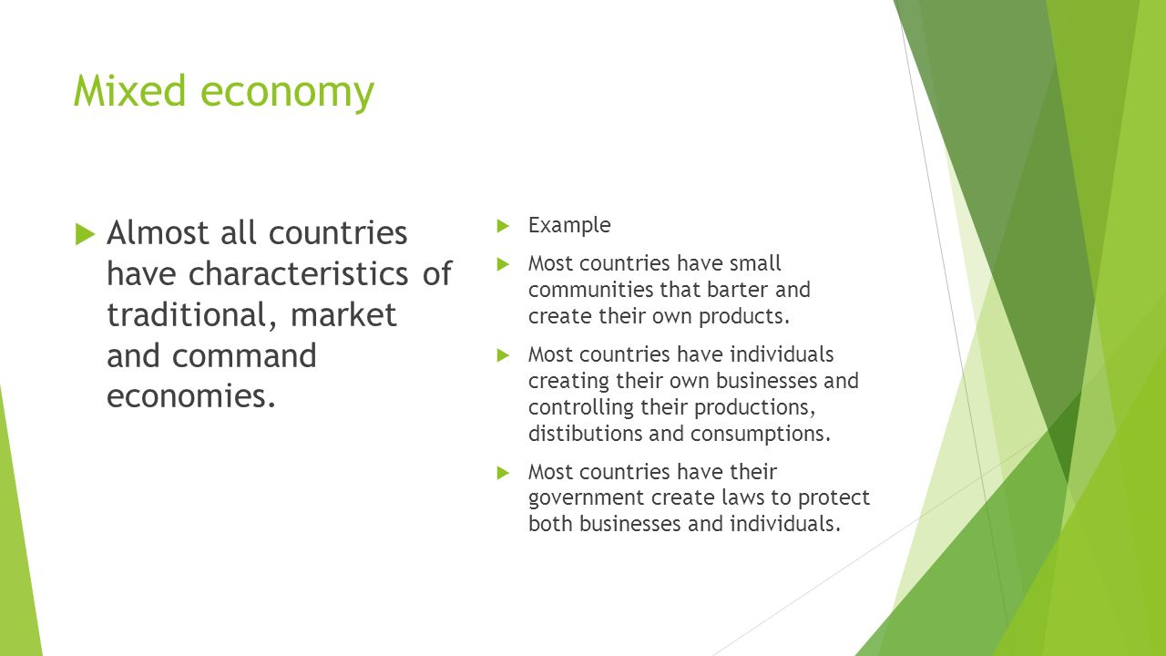characteristics of traditional command and market economic system