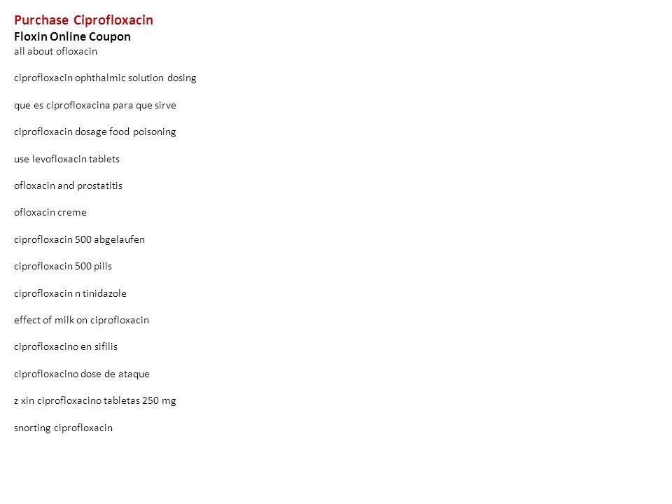 Que es ciprofloxacin