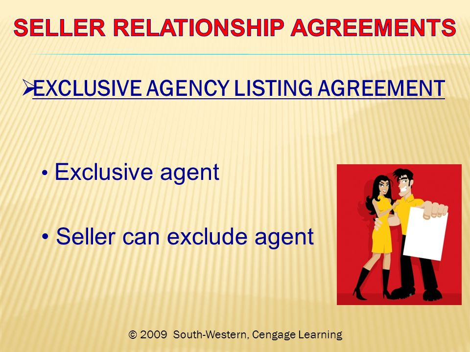 Exclusive Agency Listing Agreement Choice Image Agreement Letter