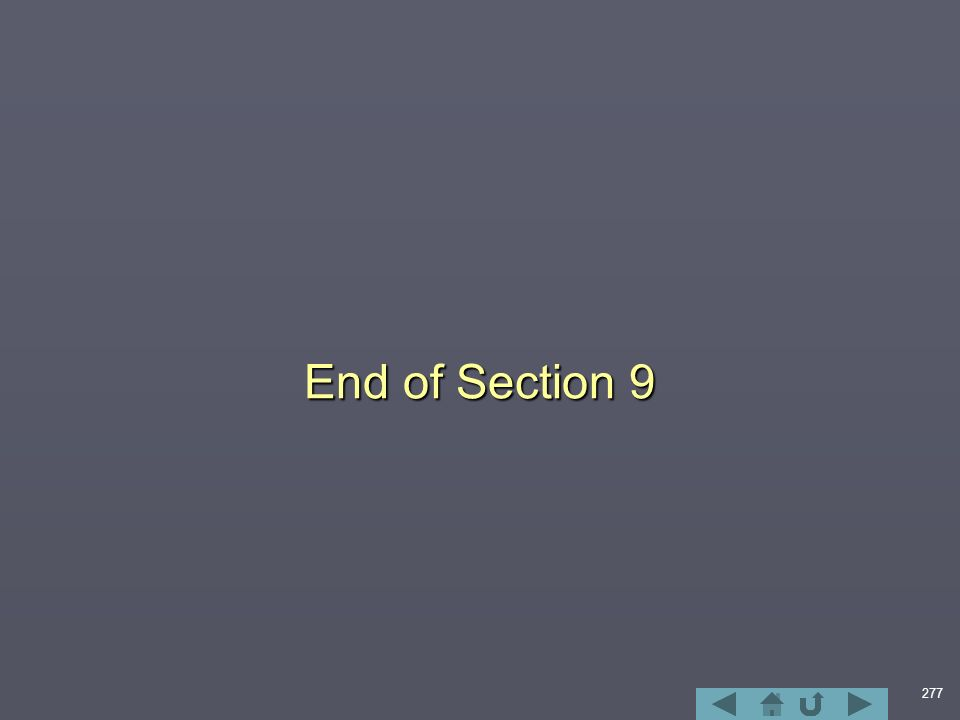 277 End of Section 9