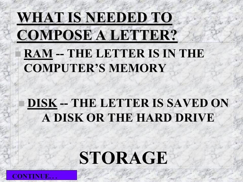 WHAT IS NEEDED TO COMPOSE A LETTER.