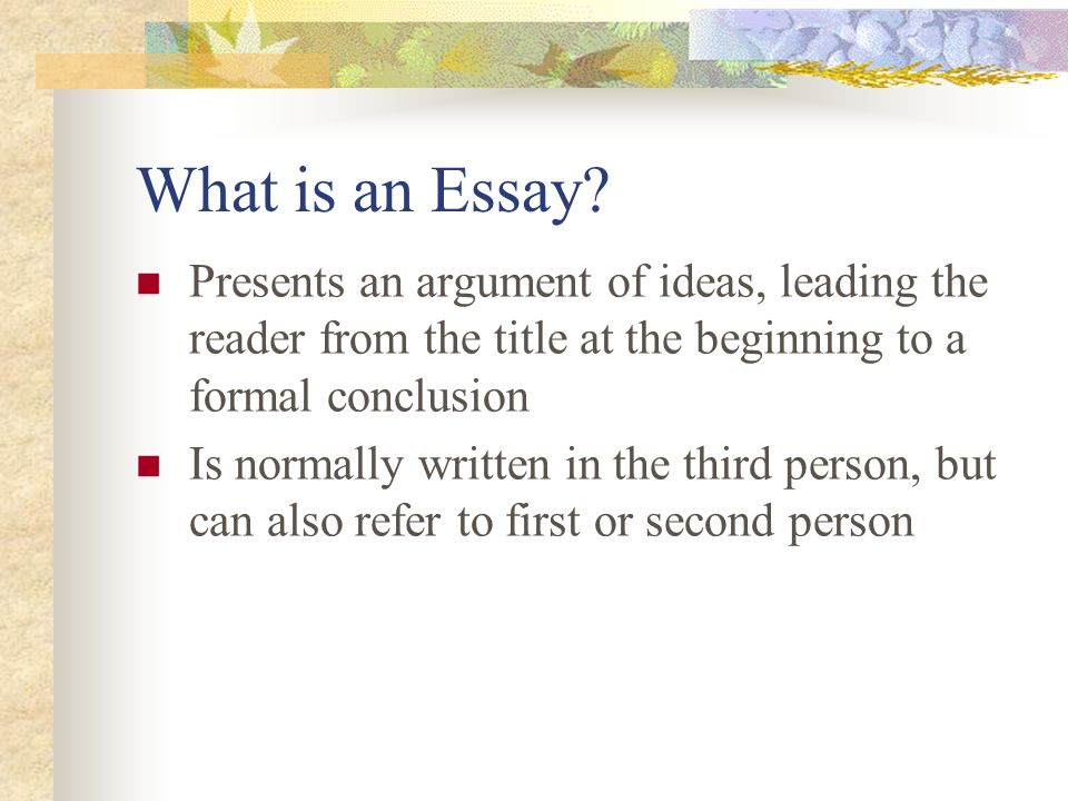 Dr Malinda Hill Advanced English Ca Designing Essays Research  What Is An Essay