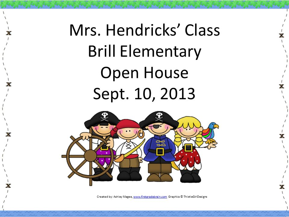 Mrs. Hendricks' Class Brill Elementary Open House Sept.