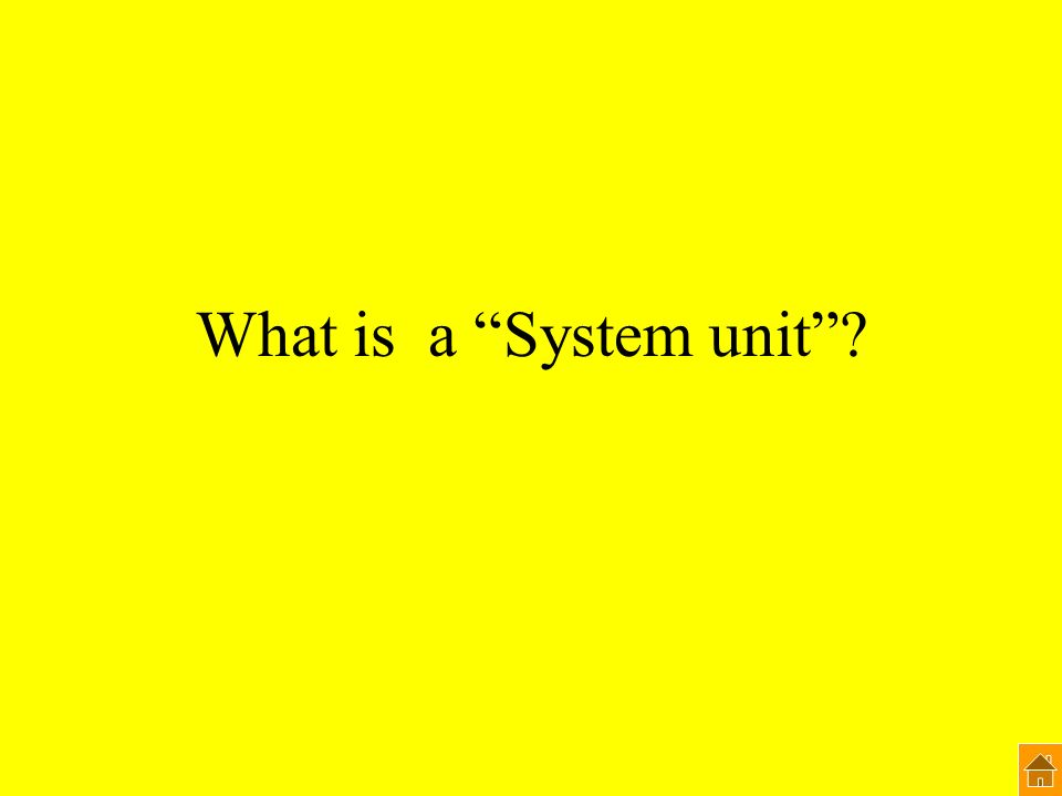 What is a System unit