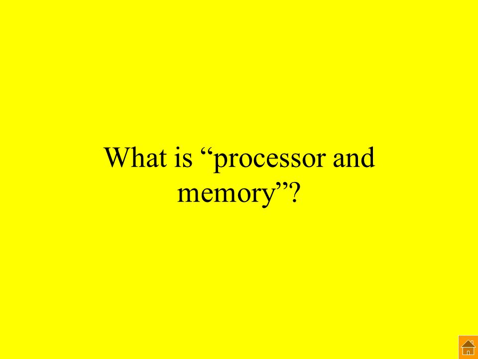 What is processor and memory