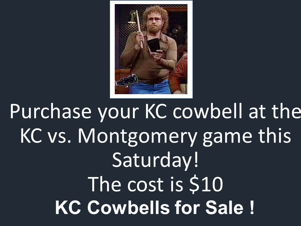 KC Cowbells for Sale . Purchase your KC cowbell at the KC vs.