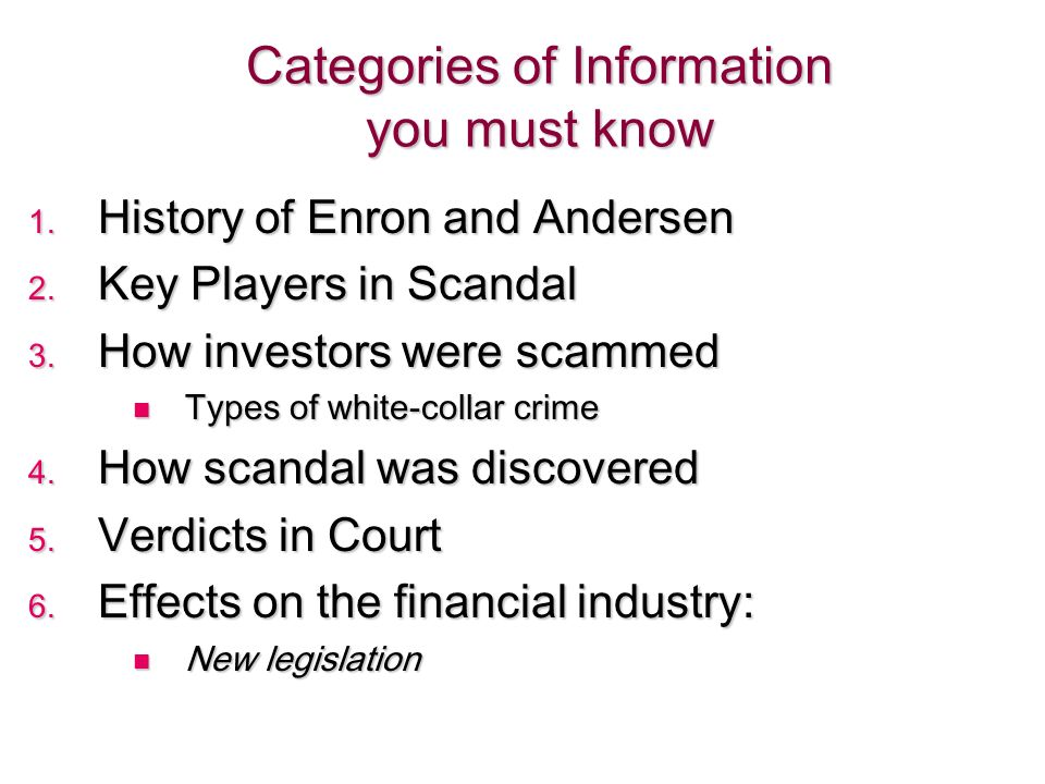 enron and arthur andersen case study What did arthur anderson contribute to the enron disaster arthur andersen project capstone case study – arthur andersen llp bus about arthur andersen case.
