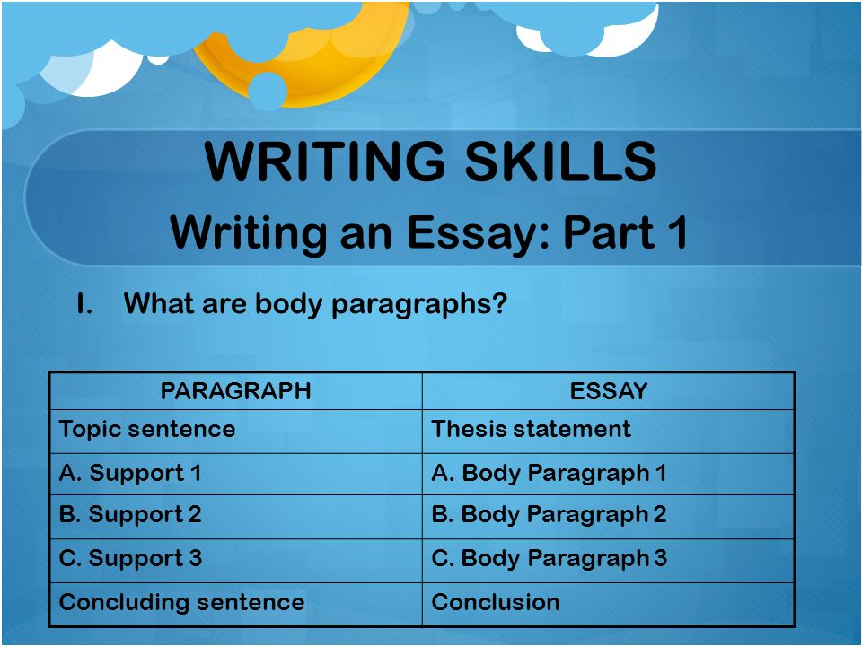 paragraph writing skill - Forte.euforic.co