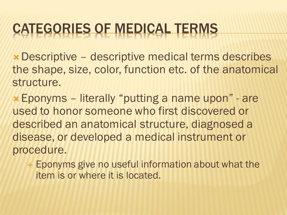 Dr. Michael P. Gillespie.  Descriptive – descriptive medical ...