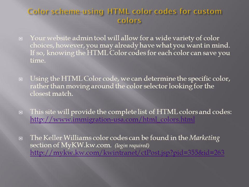 recipe: html color codes list [29]