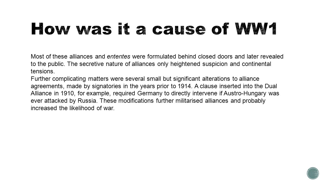 the long term causes of ww essays the long term causes of ww1 examples