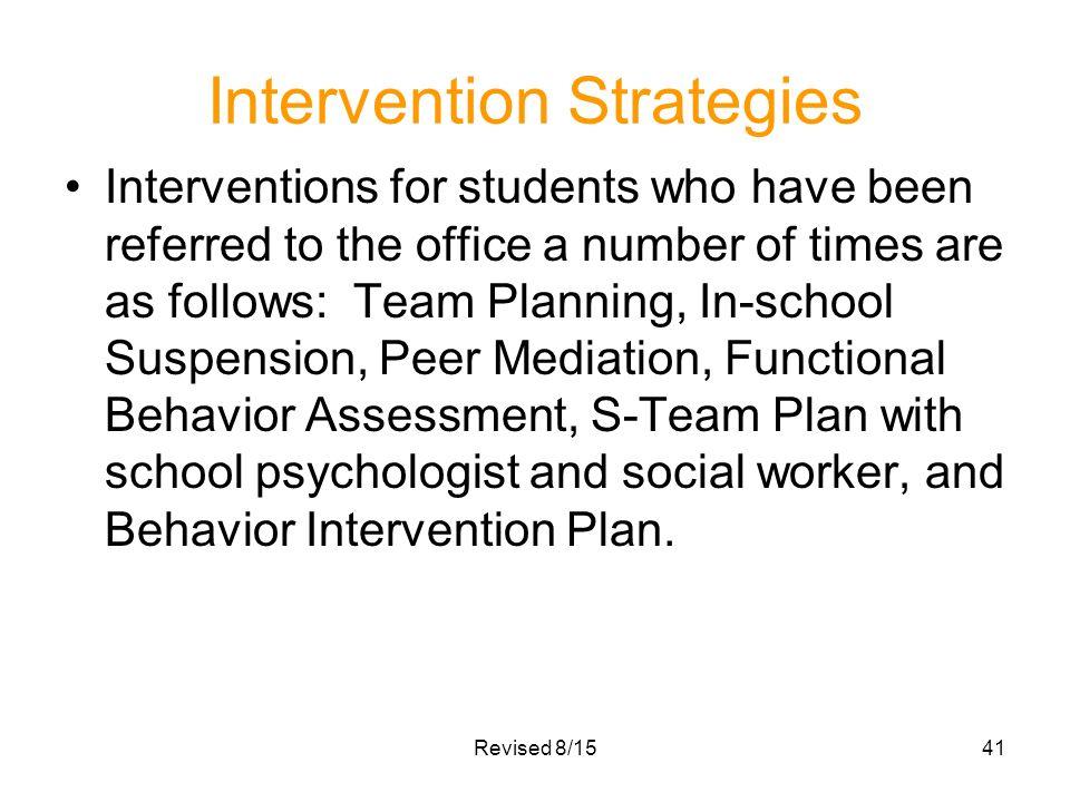 White Station Middle School Schoolwide PBIS Plan Discipline Plan – In School Suspension Worksheets
