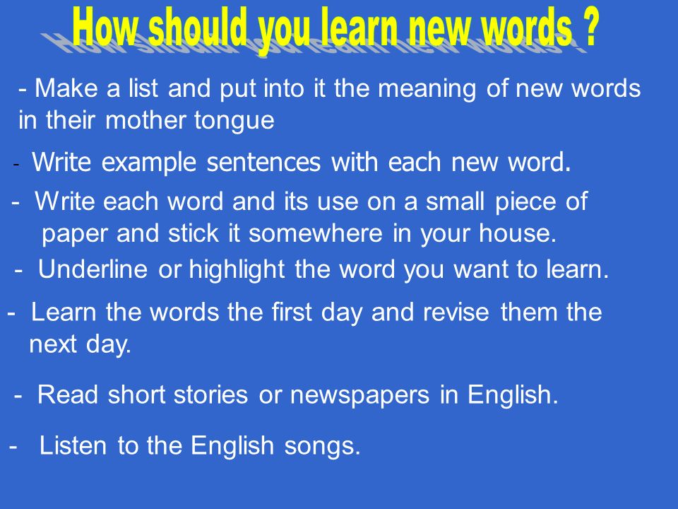 Do You Like Learning English How Many New Words Do You Try - 23 new words