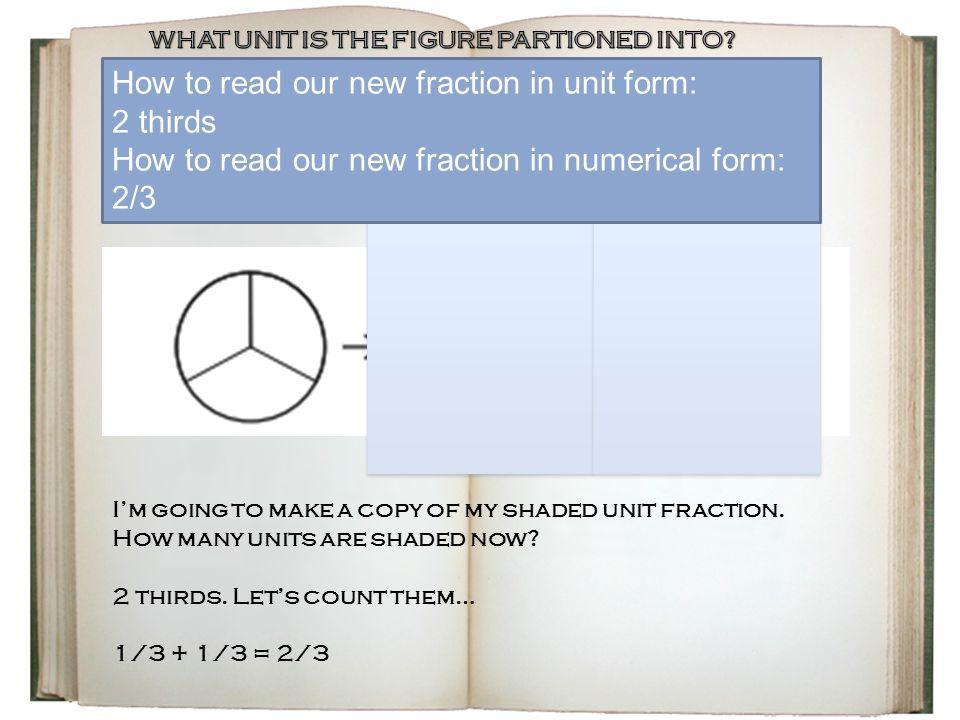 Module 5 Lesson 6: Build non-unit fractions Less than one whole ...