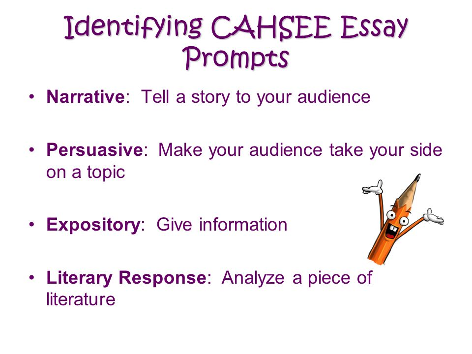Warm up cahsee review list and explain the strategies we should