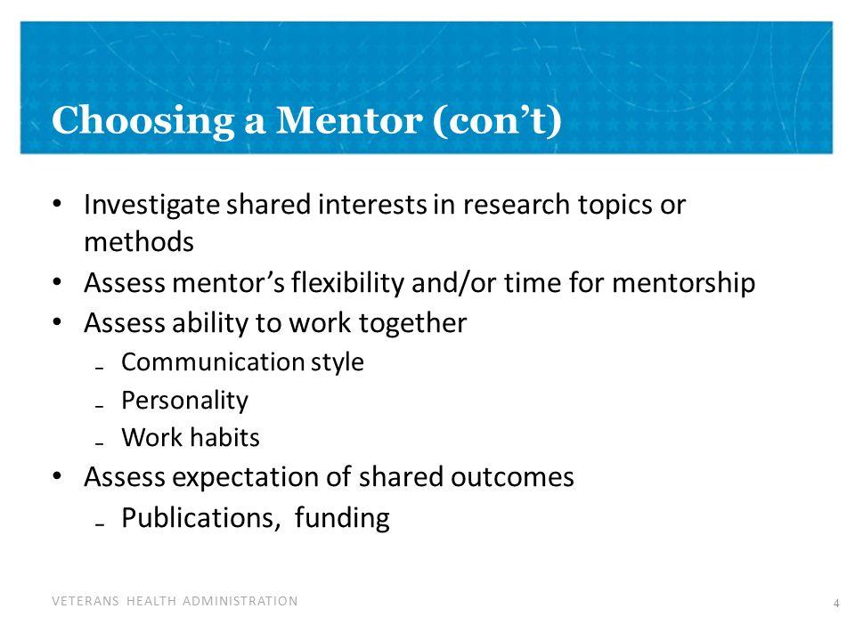 work mentor