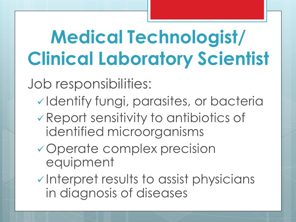Medical Laboratory Diagnostic Services Careers Medical Lab