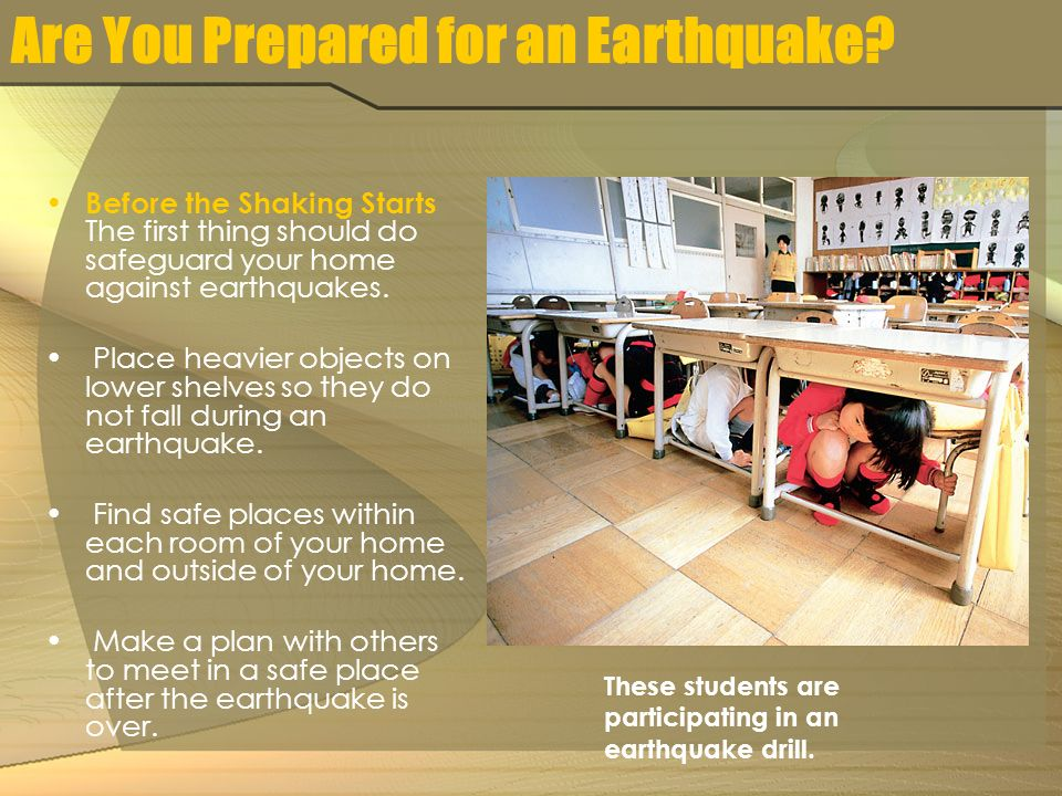 Are You Prepared for an Earthquake.