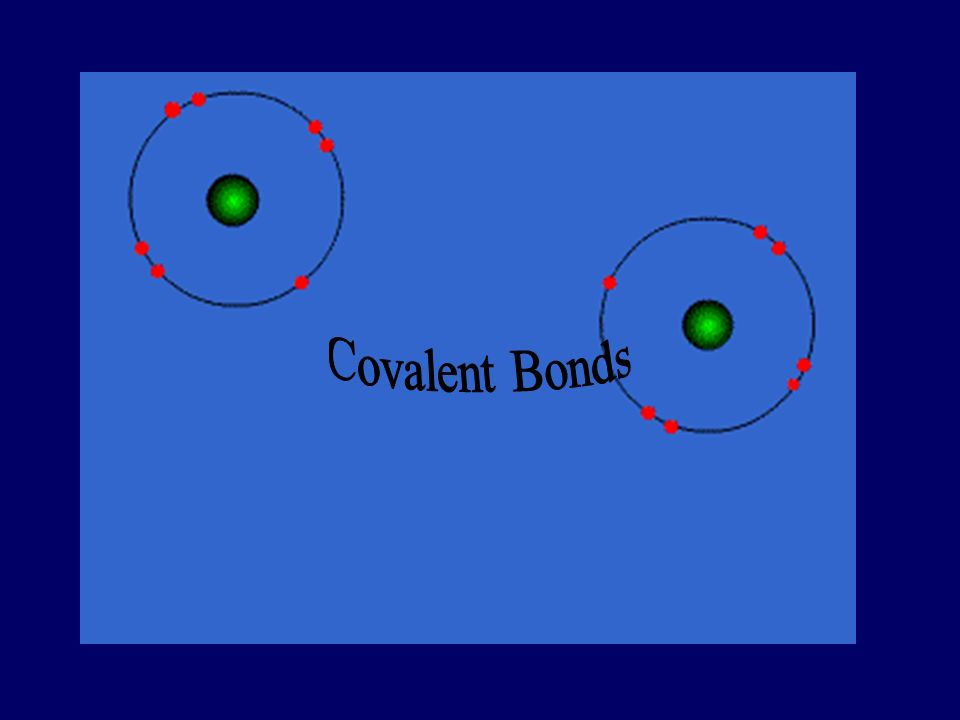 Covalent Bond Between nonmetallic elements Formed by sharing electron pairs Stable non-charged particles, they are not conductors at any state Examples; O 2, CO 2, C 2 H 6, H 2 O, SiC