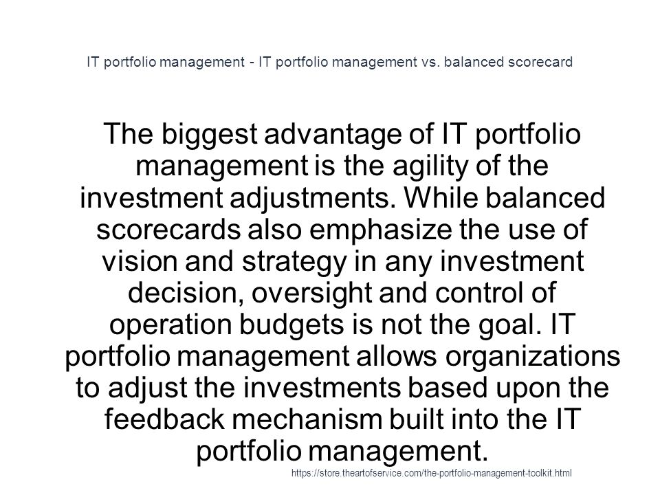IT portfolio management - IT portfolio management vs.